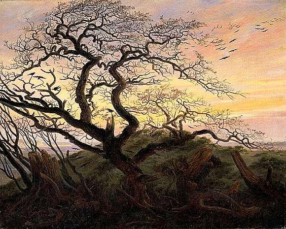 Arbre aux corbeaux , peint par caspar david friedrich en 1822